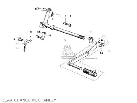 Kawasaki KH100B7 1976 CANADA parts lists and schematics