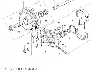 Kawasaki KH100B8 1977 CANADA parts lists and schematics