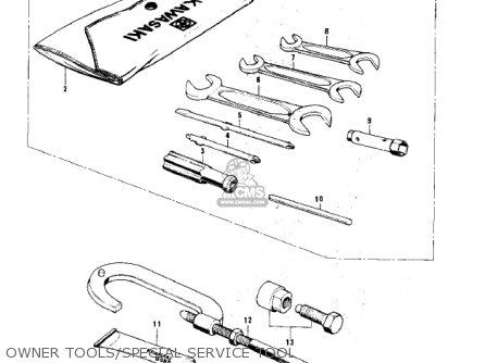 Kawasaki KH100B8 1977 CANADA parts lists and schematics