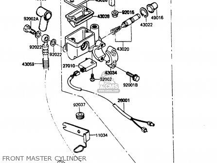Kawasaki KH100G6 1985 EUROPE UK NR parts lists and schematics