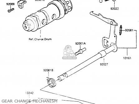 Kawasaki Kh100g7 1986 Usa parts list partsmanual partsfiche
