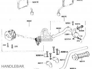 Kawasaki Kh125k1 1982 Usa parts list partsmanual partsfiche