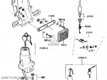 Kawasaki KH125K2 1983 EUROPE UK SD parts lists and schematics