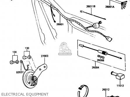 Kawasaki Kh125k5 1987 Usa parts list partsmanual partsfiche