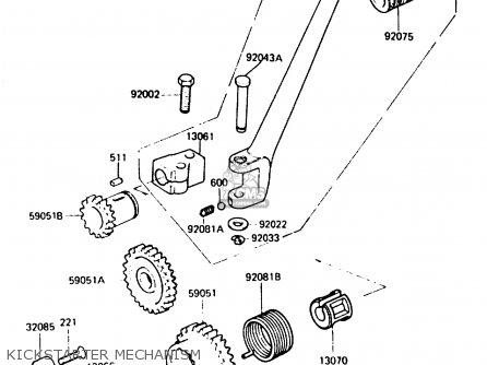 Kawasaki KH125K5 1987 USA parts lists and schematics