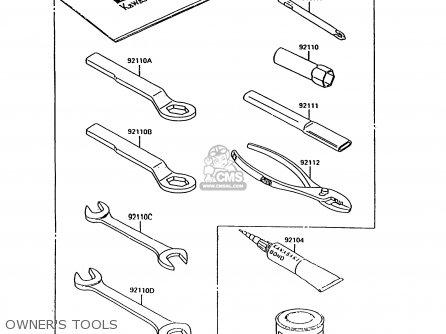 Kawasaki Kh125k9 1994 United Kingdom parts list
