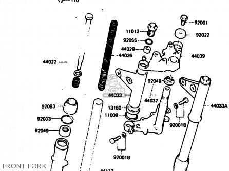 Kawasaki KH125L1 1983 USA parts lists and schematics