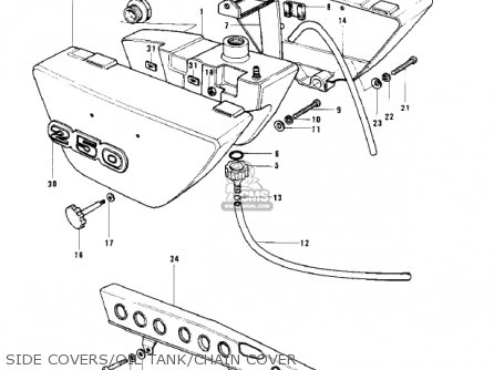 Kawasaki Kh250a5 1976 Canada parts list partsmanual partsfiche