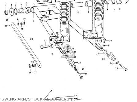 Kawasaki Kh400a3 1976 Usa California parts list