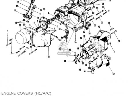 Kawasaki Kh500a8 1976 Canada parts list partsmanual partsfiche