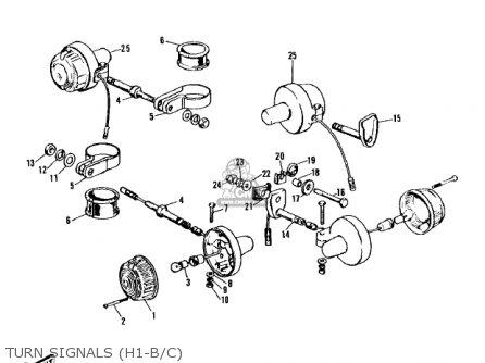 Kawasaki Kh500a8 1976 Canada parts list partsmanual partsfiche