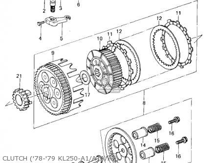 Kawasaki Kl250a1 Klr250 1978 Canada parts list partsmanual