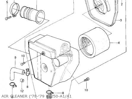 Kawasaki KL250A3 KLR250 1980 CANADA parts lists and schematics