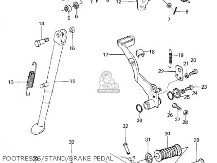 Kawasaki Kl250a3 Klr250 1980 Canada parts list partsmanual