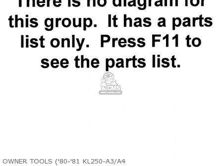 Kawasaki Kl250a3 Klr250 1980 Canada parts list partsmanual