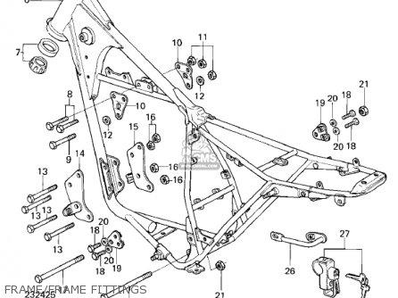 Kawasaki KL250A4 KLR250 1981 CANADA parts lists and schematics