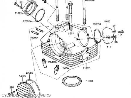 Kawasaki KL250A5 KLR250 1982 USA CANADA parts lists and
