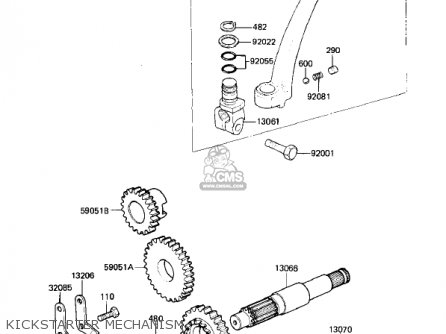 Kawasaki Kl250a5 Klr250 1982 Usa Canada parts list