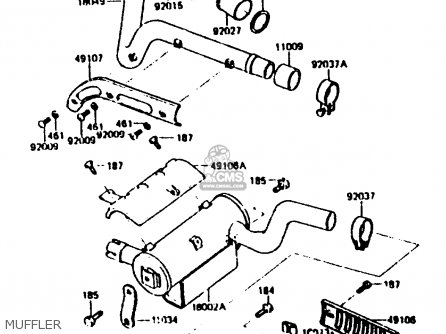 Kawasaki KL250C2 1984 USA parts lists and schematics