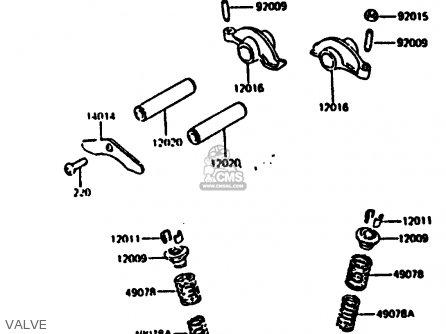 Kawasaki Kl250c2 1984 Usa parts list partsmanual partsfiche