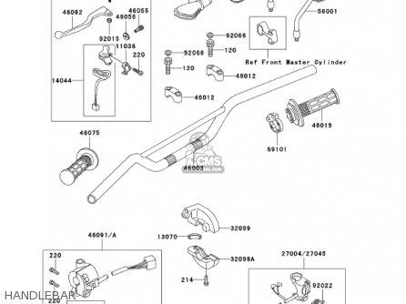 Kawasaki KL250D18 KLR250 2001 USA CALIFORNIA parts lists