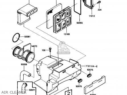 Diagram Of Kawasaki Atv Parts 1995 Klf300c7 Bayou 300 4x4 Control
