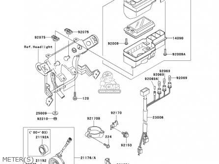 Kawasaki KL250G5 SUPER SHERPA 2001 USA CANADA parts lists