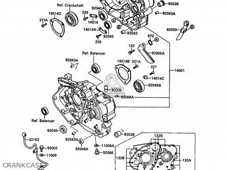 Kawasaki KL500-A1 KLR500 1987 NORWAY AR parts lists and