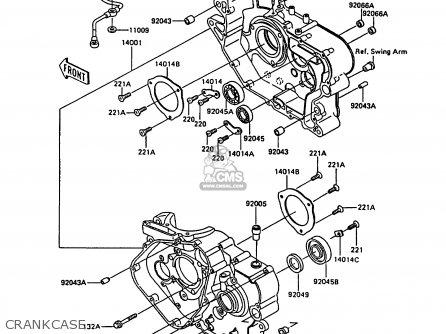 Kawasaki Kl600a3 Klr600 1988 Italy parts list partsmanual
