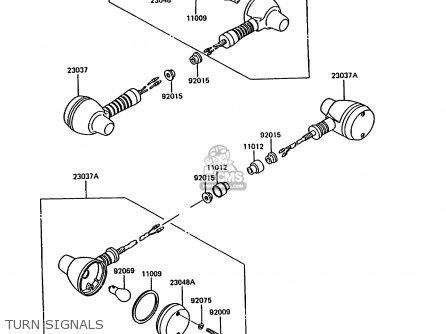 Kawasaki KL600A3 KLR600 1988 ITALY parts lists and schematics