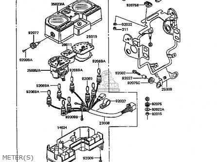Kawasaki Kl600b4 Klr600 1988 Europe Uk Fg parts list