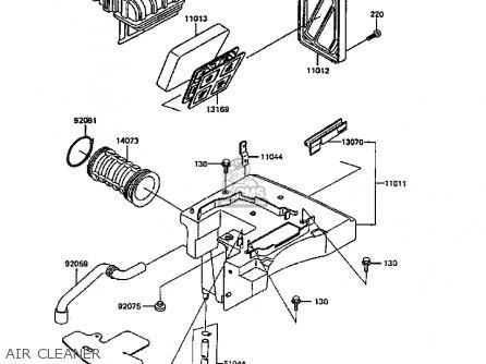 Kawasaki KL600B5 KLR600 1989 SWEDEN FG parts lists and