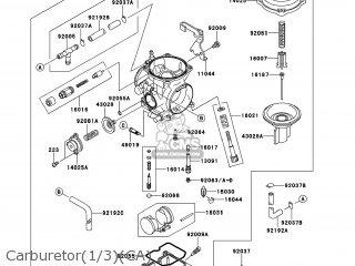 Kawasaki Kl650eef Klr650 2014 Usa parts list partsmanual