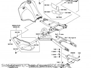Kawasaki Kl650eef Klr650 2014 Usa parts list partsmanual