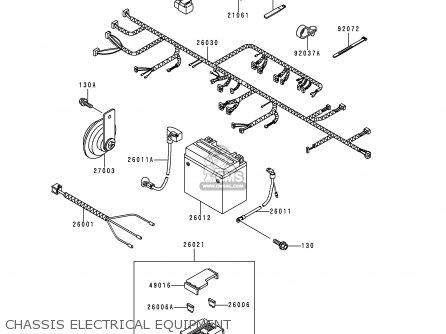 Kawasaki KLE250-A3 1997 GREECE parts lists and schematics