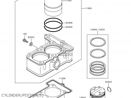 Kawasaki Kle250-a3 1997 Greece parts list partsmanual
