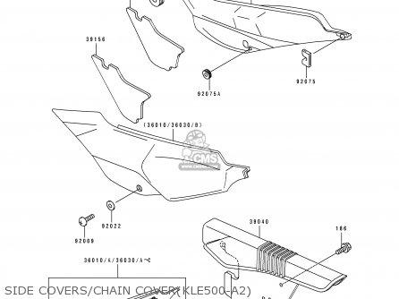 Kawasaki Kle500a2 1992 Europe Uk Fr Ar Fg Gr It Nr Sd Sp
