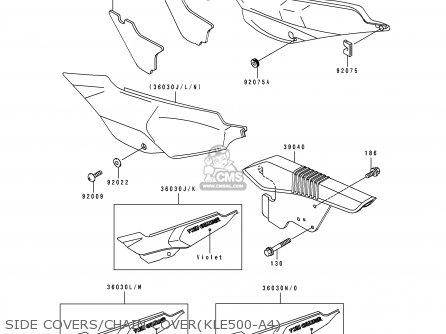 Kawasaki KLE500A4 1994 EUROPE UK FR NL AR FG GR IT NR SP