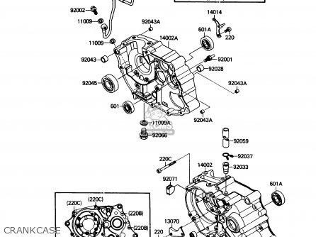 Kawasaki Klf110-a1 Mojave110 1987 Usa Canada parts list
