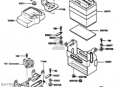 Kawasaki KLF185-A1 BAYOU185 1985 parts lists and schematics