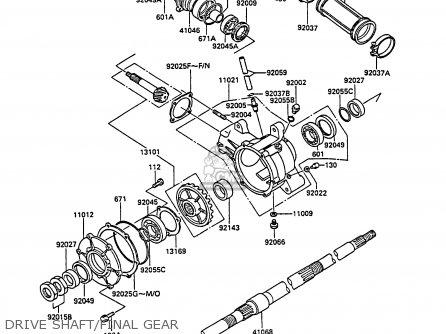 Kawasaki Klf185-a2 Bayou185 1986 Australia parts list