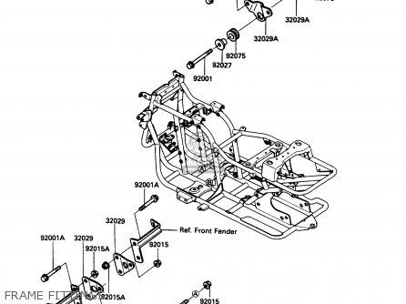 Kawasaki Klf185-a2 Bayou185 1986 Usa Canada parts list