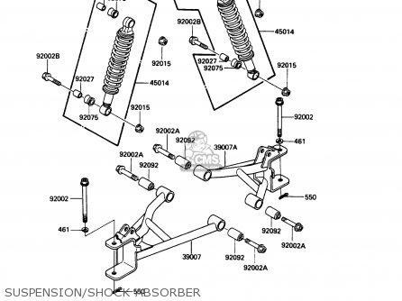 Kawasaki Klf185-a3 Bayou185 1987 Usa Canada parts list