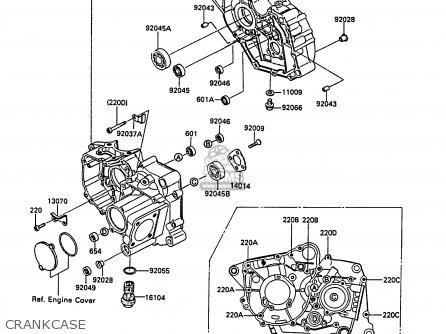 Kawasaki KLF185-A4 BAYOU185 1988 UNITED KINGDOM AS parts