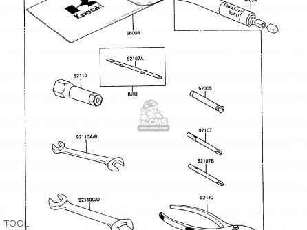Kawasaki Klf220-a1 1988 Australia parts list partsmanual