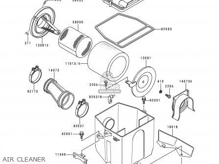 Kawasaki KLF220-A11 1998 EUROPE UK AS parts lists and
