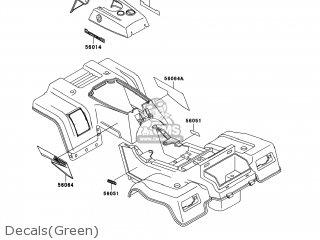 Kawasaki KLF220-A15 BAYOU220 2002 USA parts lists and