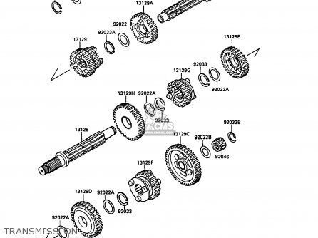 Kawasaki KLF220-A2 1989 UNITED KINGDOM AS parts lists and