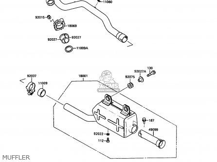 Kawasaki KLF220-A4 1991 EUROPE UK parts lists and schematics