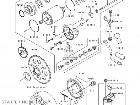 Kawasaki KLF220-A6 1993 EUROPE UK AS parts lists and